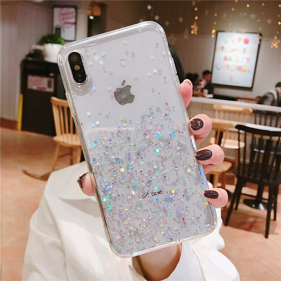 Clear Glitter Point Case