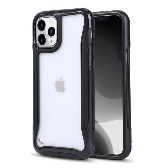 Black Shockproof Transparent Frosted Case