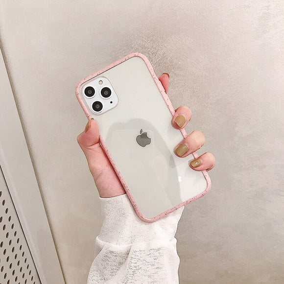 Pink Border Clear Wave Case