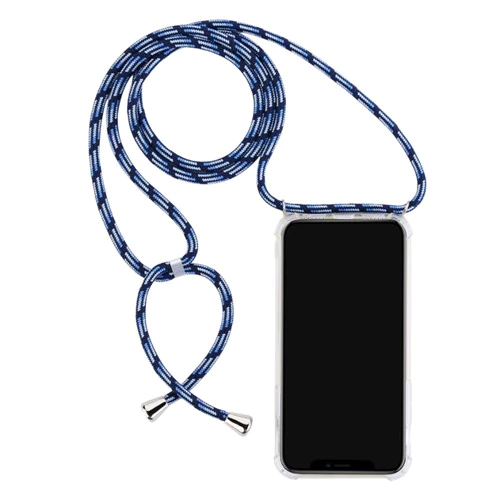 Clear Case with Lanyard - Blue Black