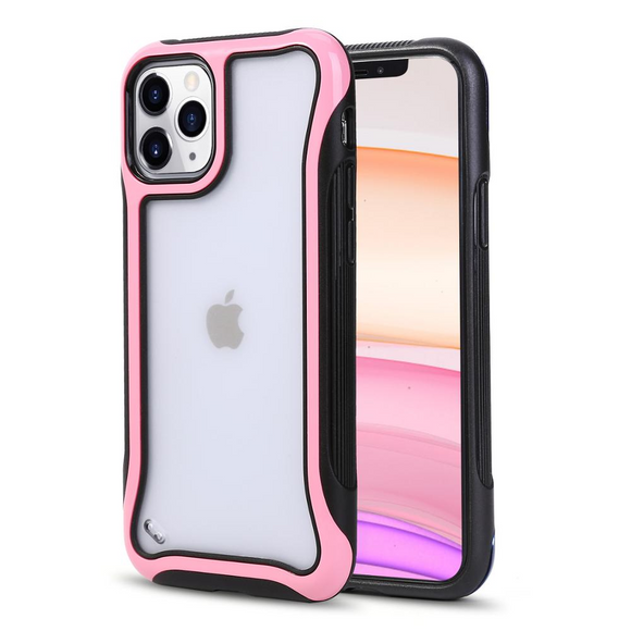 Pink Shockproof Transparent Frosted Case