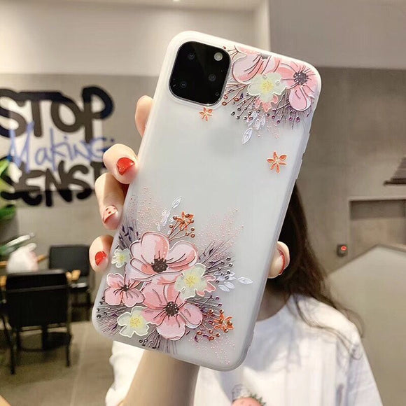 Clear Up and Down Pink Flower Blossom Case