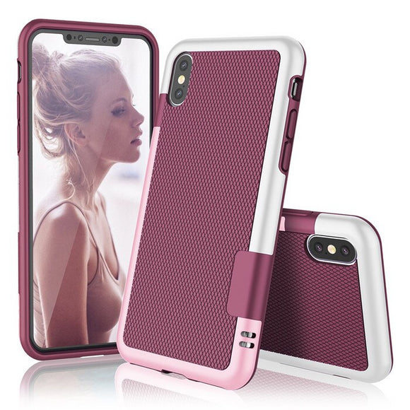 Maroon Hybrid Shockproof Case