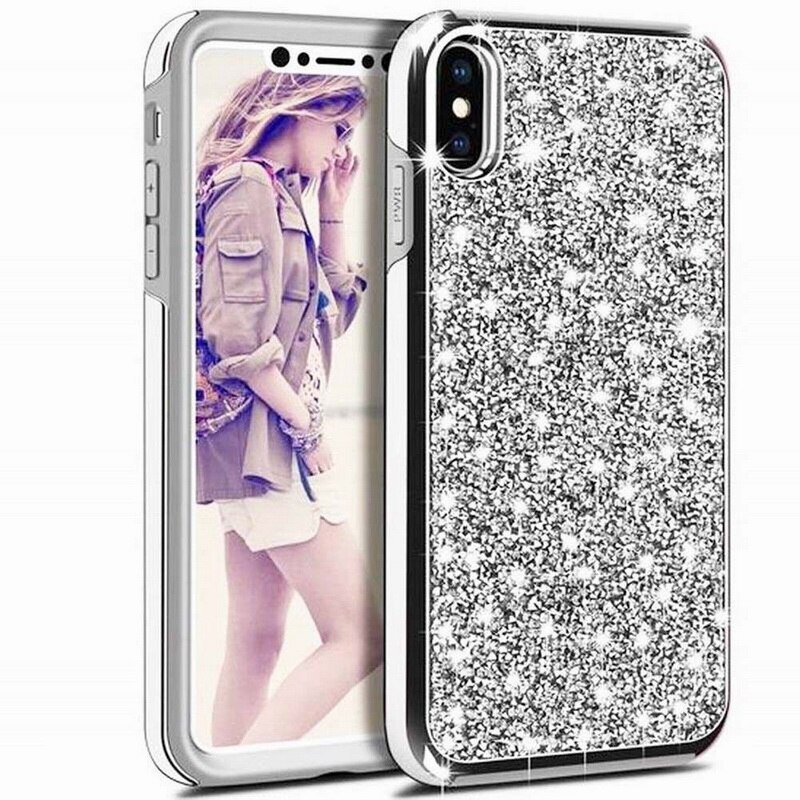 Silver Sparkly Diamond Glitter Case