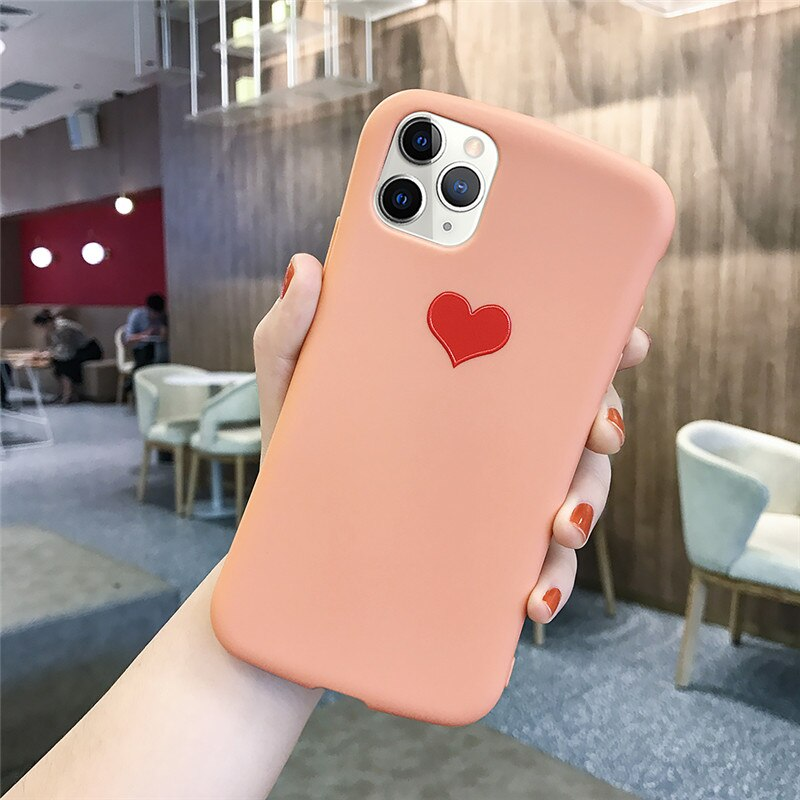 Pink Love Heart Phone Case