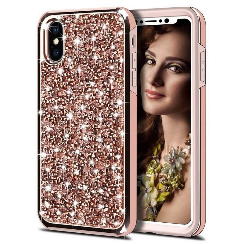 Rose Gold Sparkly Diamond Glitter Case