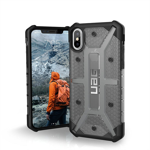 UAG - iPhone X Plasma Case- Ash/Black/Silver Logo- Retail Package