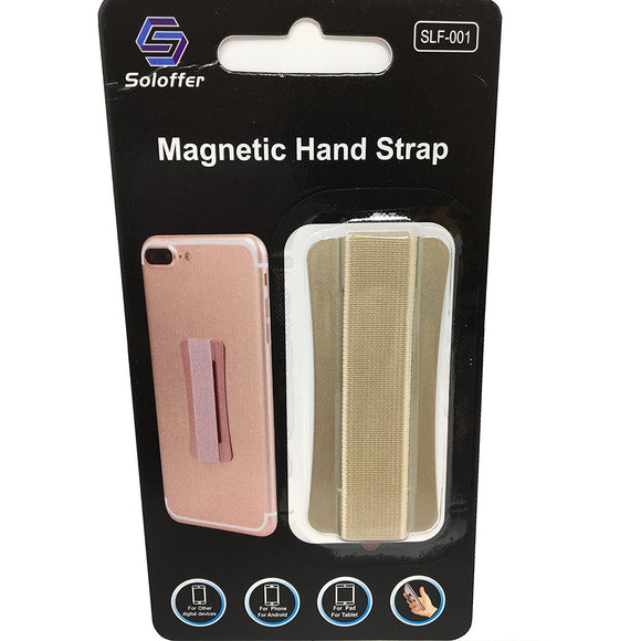 Gold - Magnetic Hand Strap - Phone Grip - ذهبي - مسكة شريطة ومغناطيس