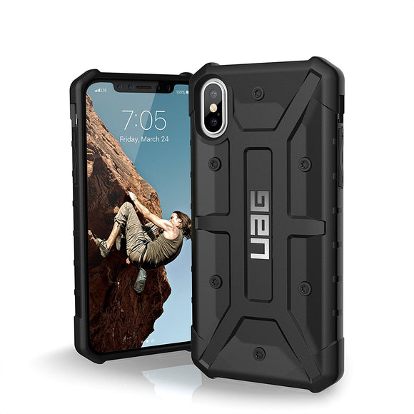 UAG - iPhone x Pathfinder Case- Black/Silver Logo- Retail Package