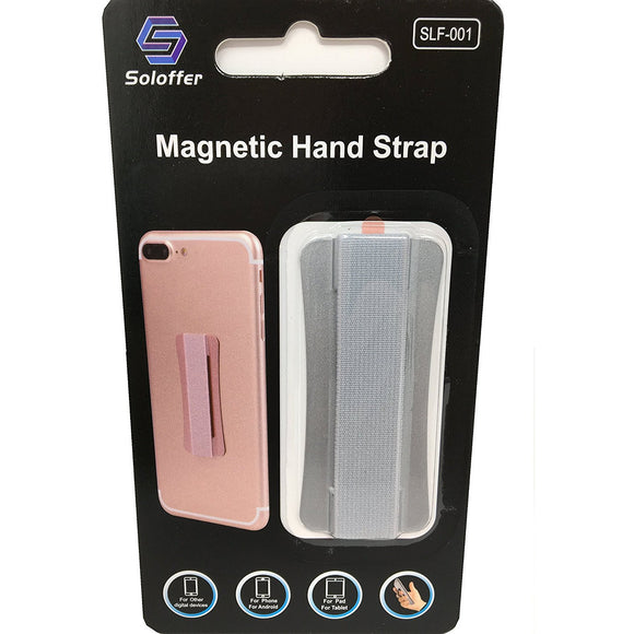 Silver - Magnetic Hand Strap - Phone Grip - سلفر فضي - مسكة شريطة ومغناطيس