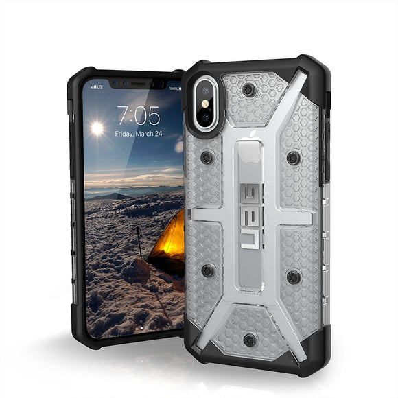 UAG - iPhone X Plasma Case- Ice/Black/Silver Logo- Retail Package