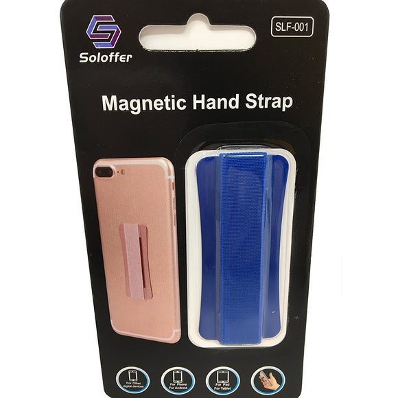 Blue - Magnetic Hand Strap - Phone Grip - ازرق - مسكة شريطة ومغناطيس