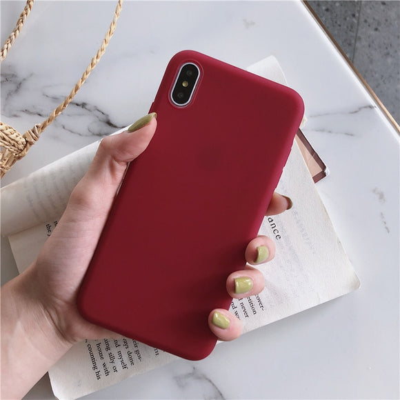 Maroon Plain Soft Case