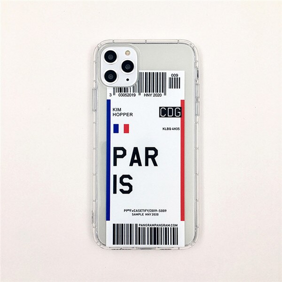 Paris City Bar-code Label Phone Case