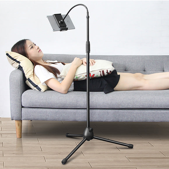 Adjustable Tripod Floor Stand Flexible Tablet Holder Bracket - ستاند عالي - لجميع انواع الاجهزة