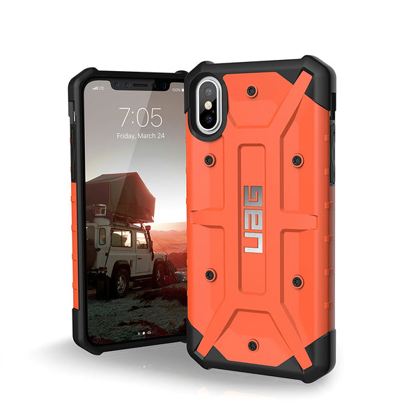UAG - iPhone X Pathfinder Case- Rust/Silver Logo- Retail Package