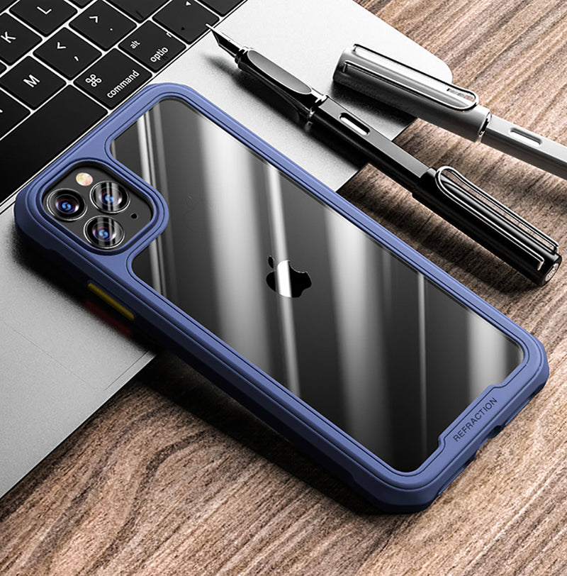 Blue Armor Clear Phone Case