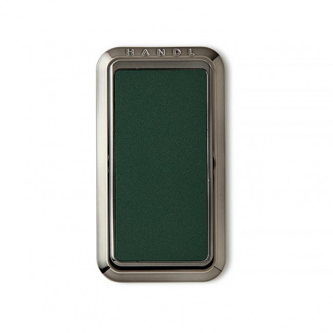 HANDL Stick - Smooth Leather - Midnight Green - مسكة وستاند رأسي وجانبي