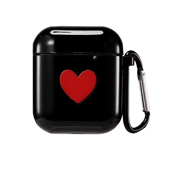 AirPod Heart Case - Black - كفر ايربود