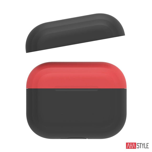 AhaStyle Apple AirPods Pro Case - Black / Red