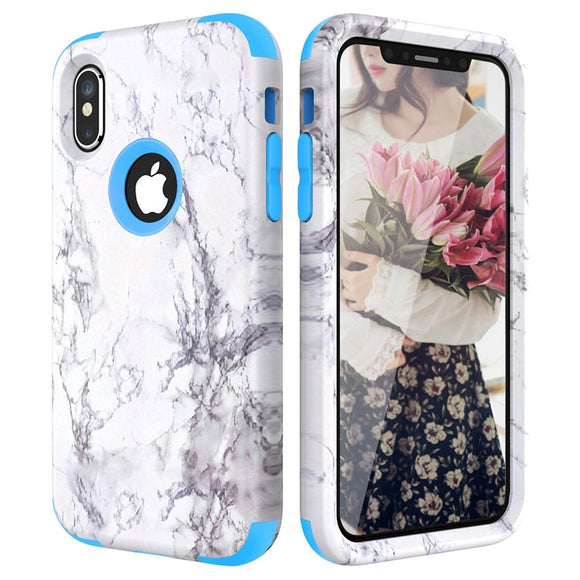 Blue White Marble Bumper Case