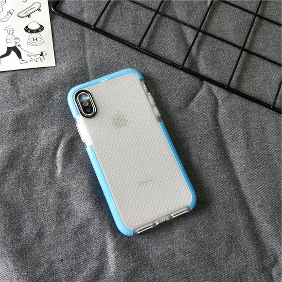 Blue Shock Proof Dot Side Case