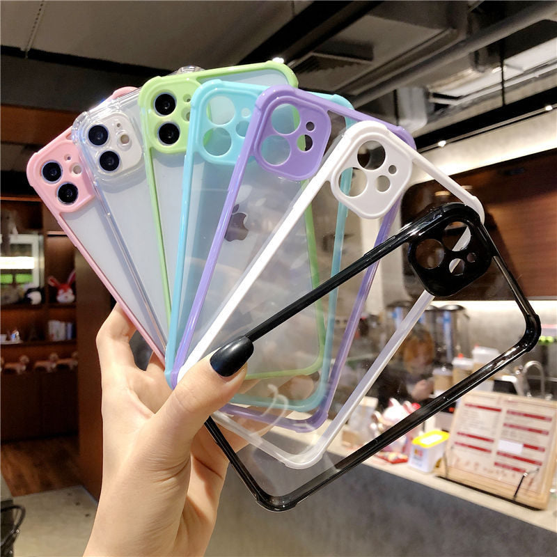 Black Clear Bumper Phone with Camera Lens Protection