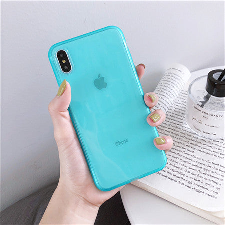 Sky Blue Candy Soft Plain Case