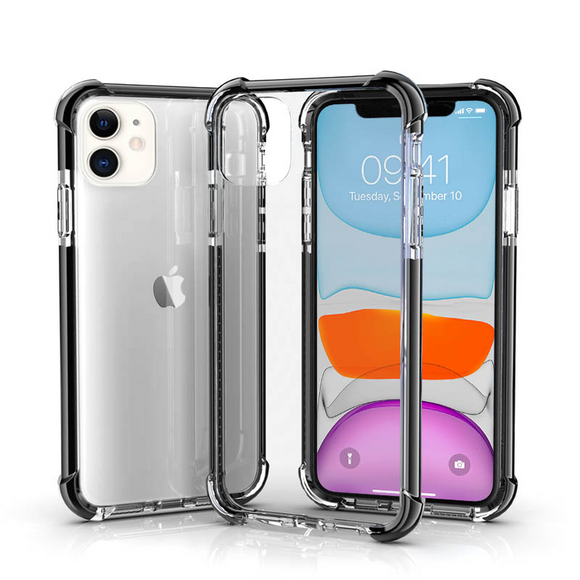 Clear Black Hybrid Shockproof TPU Clear Case