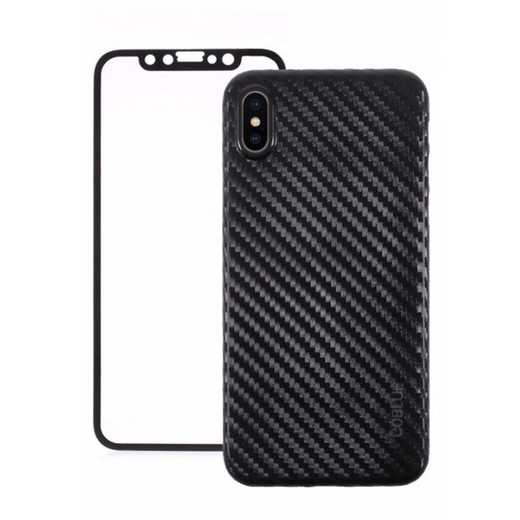Coblue Case - Carbon Fiber With Screen - iPhone X/Xs
