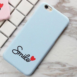 Smile Case with Hearts - Light Blue