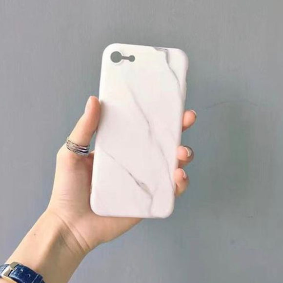White Marble Case Clear