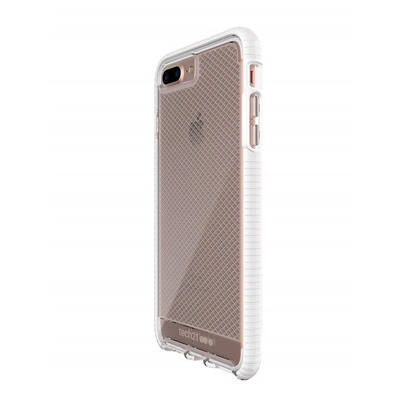 Tech21 Evo Check Case for iPhone 7/8 Plus (Clear/White) - كفر حماية عالية