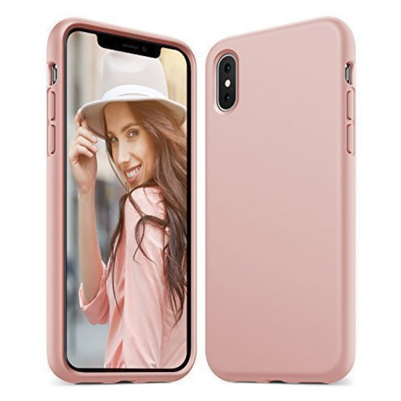 KARAPAX Silk Silicon Case For IPhone X - Pink - كفر حماية سيليكون - وردي