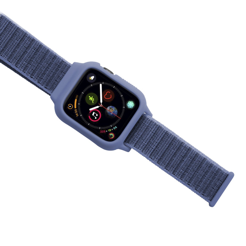 Porodo iGuard Nylon Band with Shockproof Case for Apple Watch - Blue - سير مع اطار حماية لساعة ابل ووتش