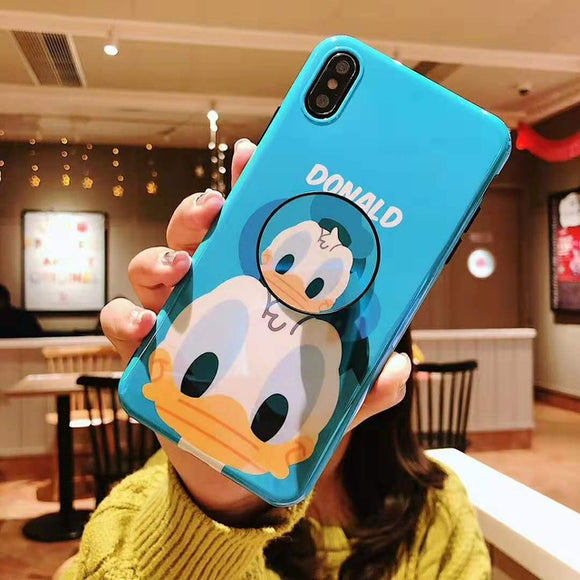 Donald Cartoon Case with POP Grip - كفر مع مسكة دائرية