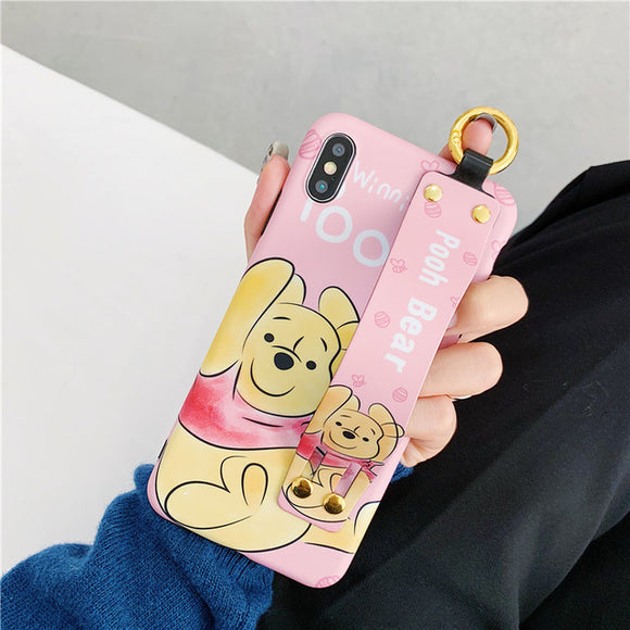 Winnie POOH Cartoon Case with Strap - كفر مع مسكة شريطة