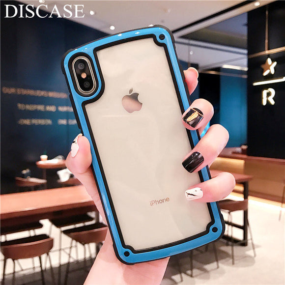Transparent Case with Blue Border
