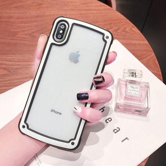 Transparent Case with White Border