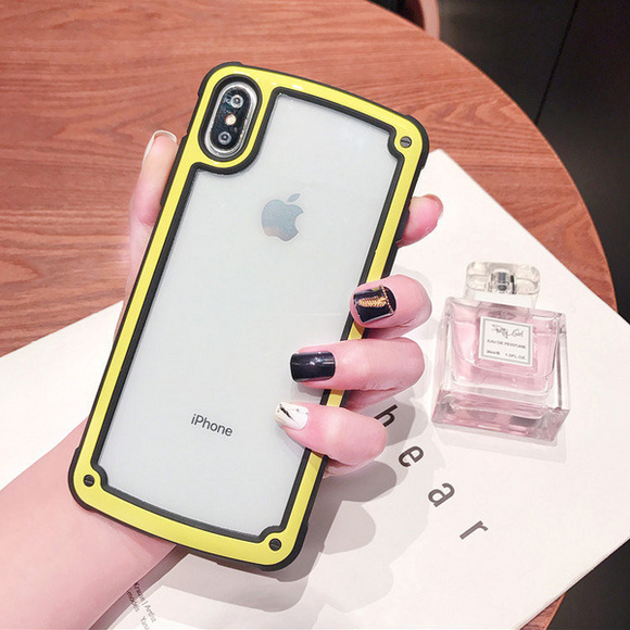Transparent Case with Yellow Border