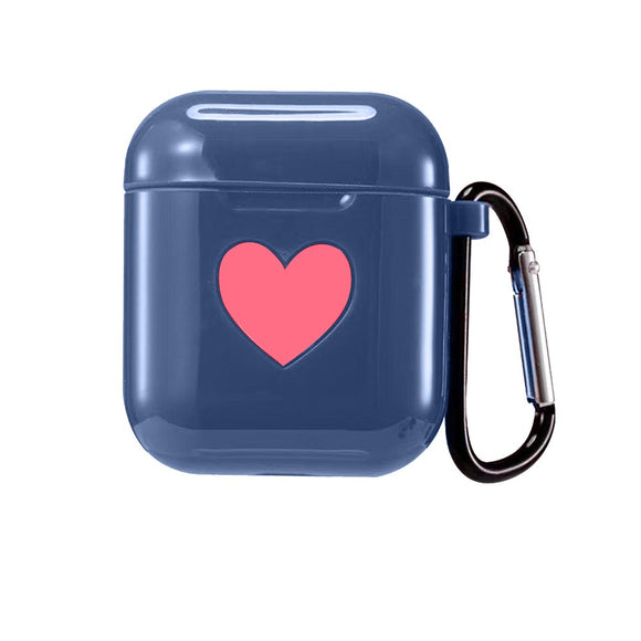AirPod Heart Case - Dark Blue - كفر ايربود
