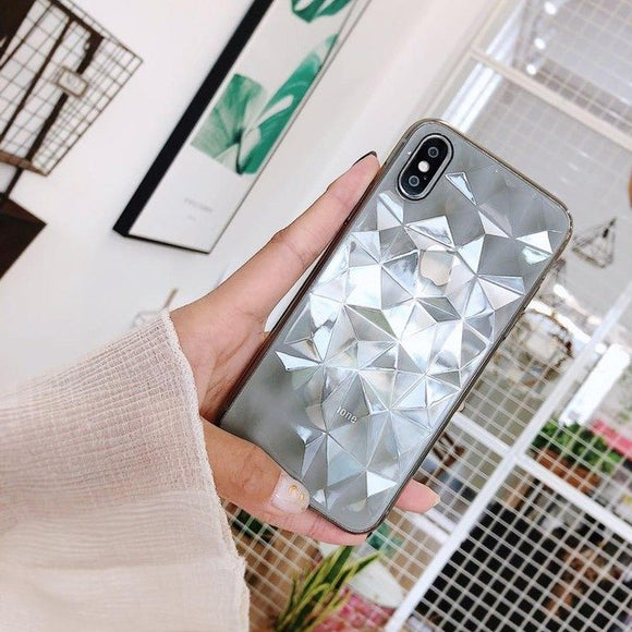 Grey Transparent Diamond Case