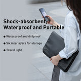 BASEUS Basics Series Waterproof Scratch-resistant Laptop Bag Sleeve for 16-inch Notebook Compurter – Dark Grey - حقيبة للاجهزة اللوحية والايباد واللاب توب - لغاية حجم 16 انش