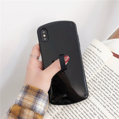 Black Case with Grip Holder - كفر مع مسكة