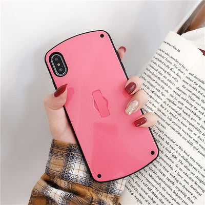 Pink Case with Grip Holder - كفر مع مسكة
