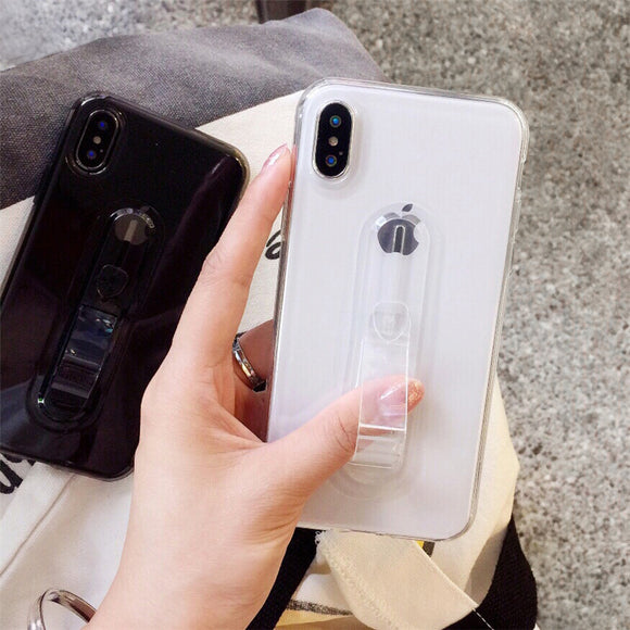 Clear Transparent Case with Strap - كفر مع مسكة