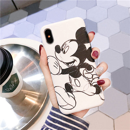 White Mickey Scratch Case
