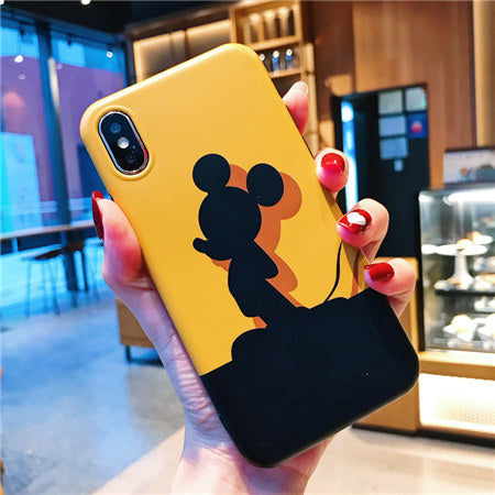 Shade of Black Mickey Yellow Case