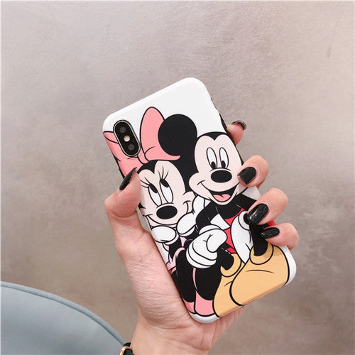 White Mickey and Minnie Big Case