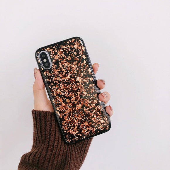 Gold Glitter Oil Case